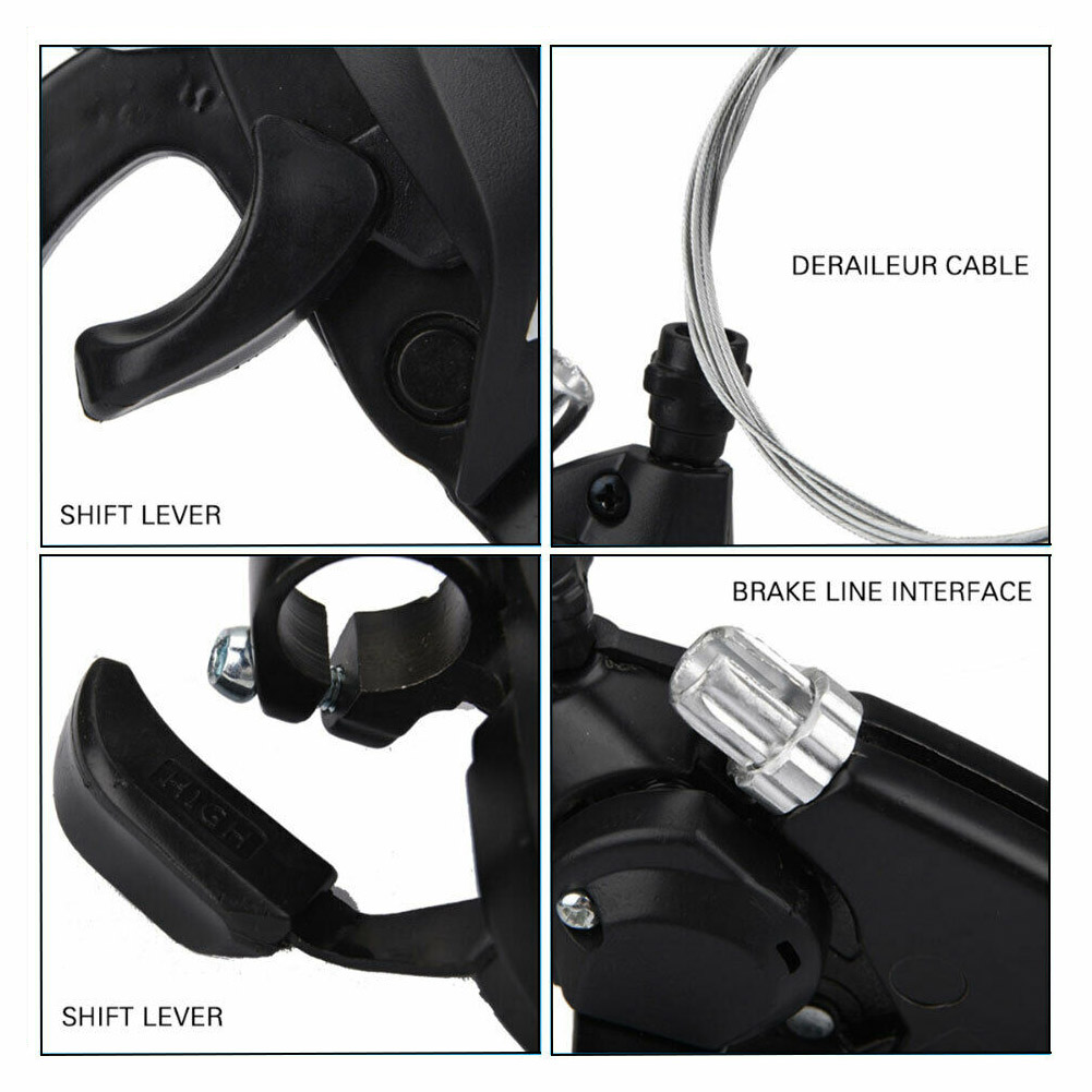 3*7 Bike Gear Shifters 21 Speeds MTB Bicycle Left/&Right Brake Lever Transmission